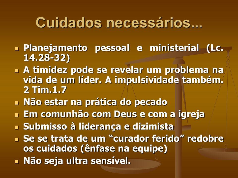Cuidados necessários... Planejamento pessoal e ministerial (Lc. 14.28-32) Planejamento pessoal e ministerial (Lc. 14.28-32) A timidez pode se revelar