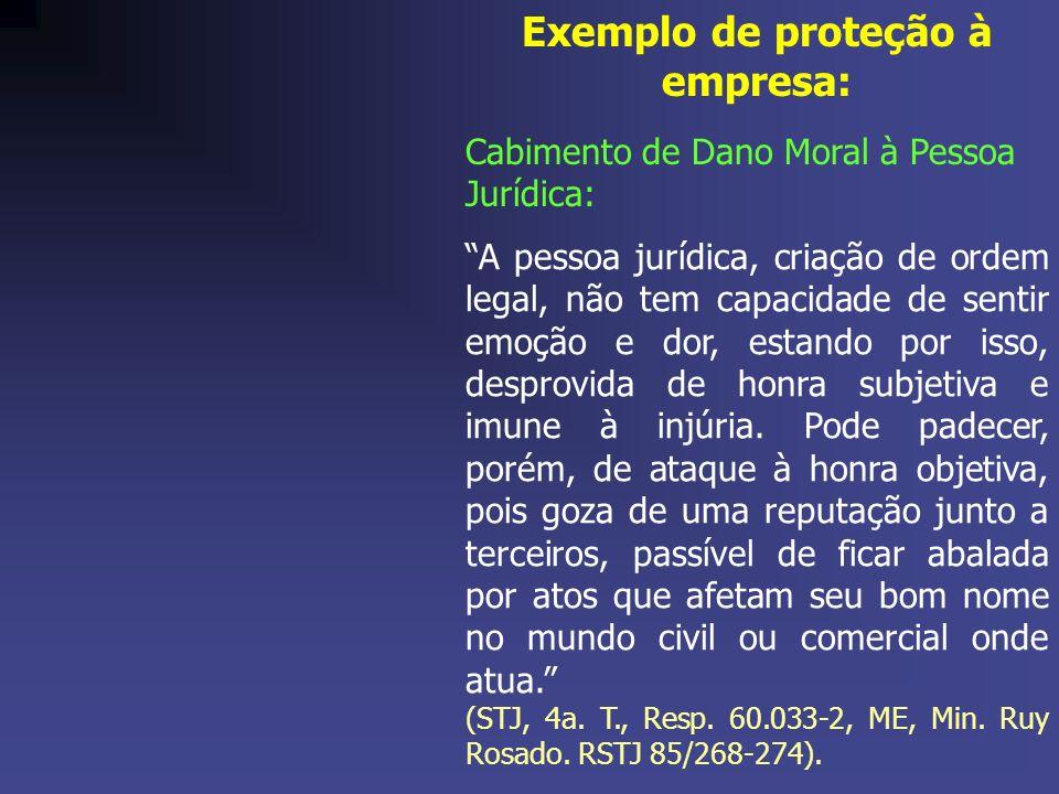 A pessoa jurídica, criação de ordem legal, não tem capacidade de sentir emoção e dor, estando por isso, desprovida de honra subjetiva e imune à injúria.