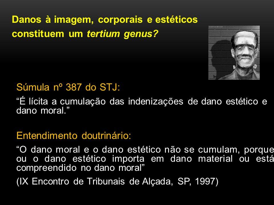 Danos à imagem, corporais e estéticos constituem um tertium genus? Súmula nº 387 do STJ: É lícita a cumulação das indenizações de dano estético e dano