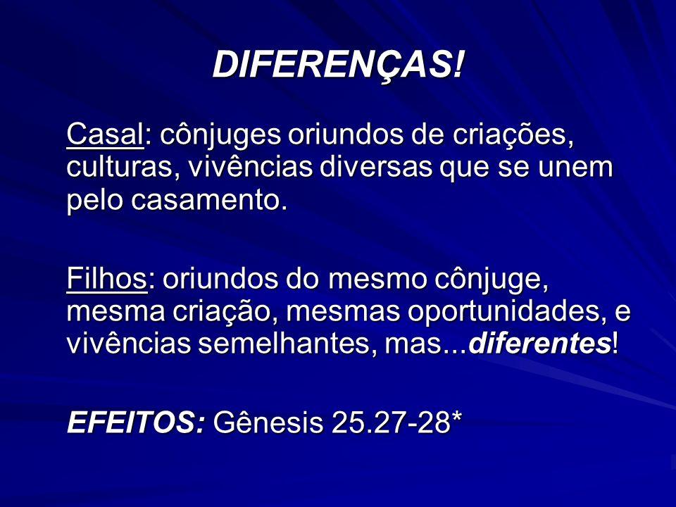 Estas diferenças refletem-se na IGREJA.
