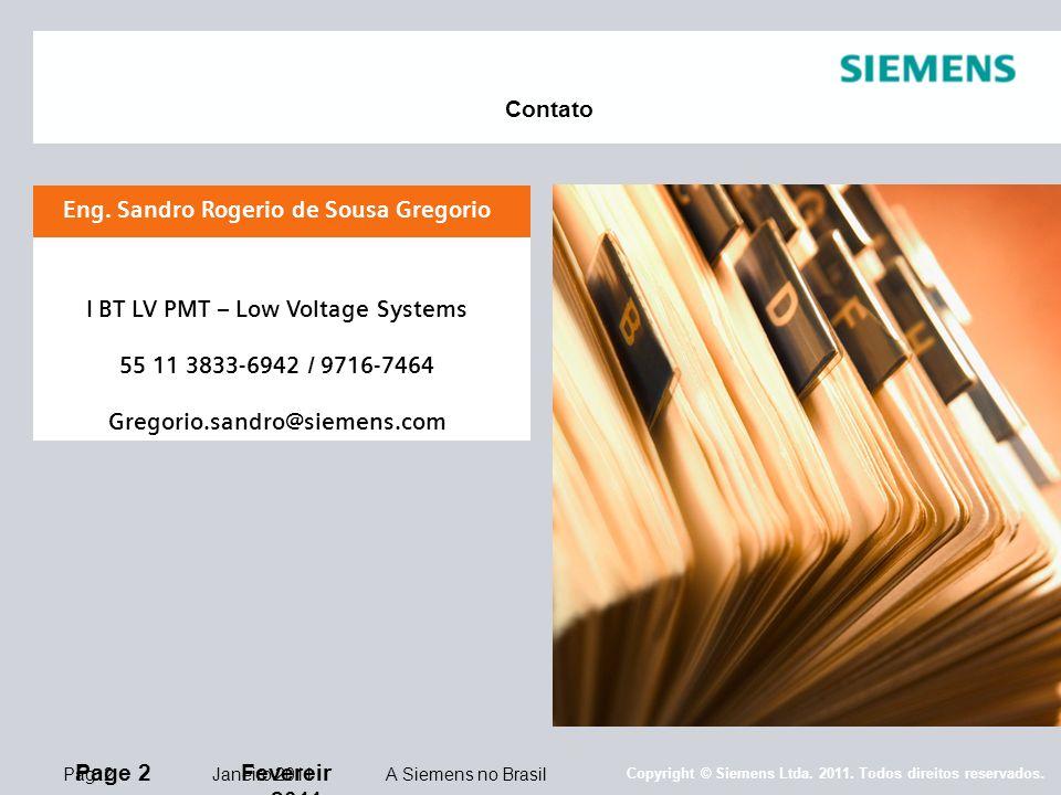 Copyright © Siemens Ltda.2011. Todos direitos reservados.