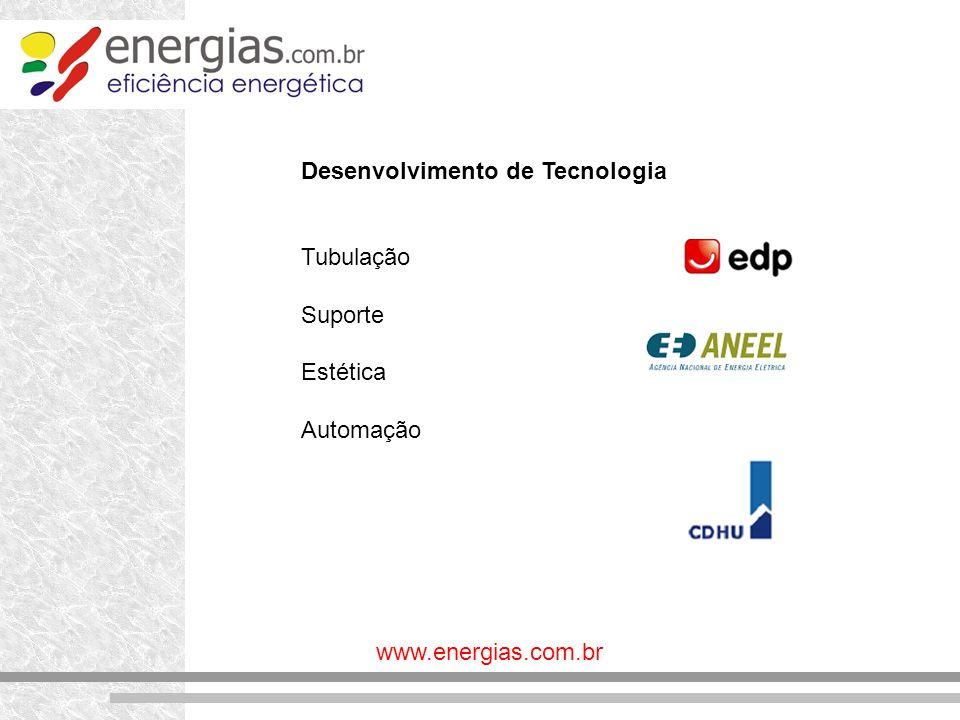 www.energias.com.br Desenvolvimento de Tecnologia Tubulação Suporte Estética Automação