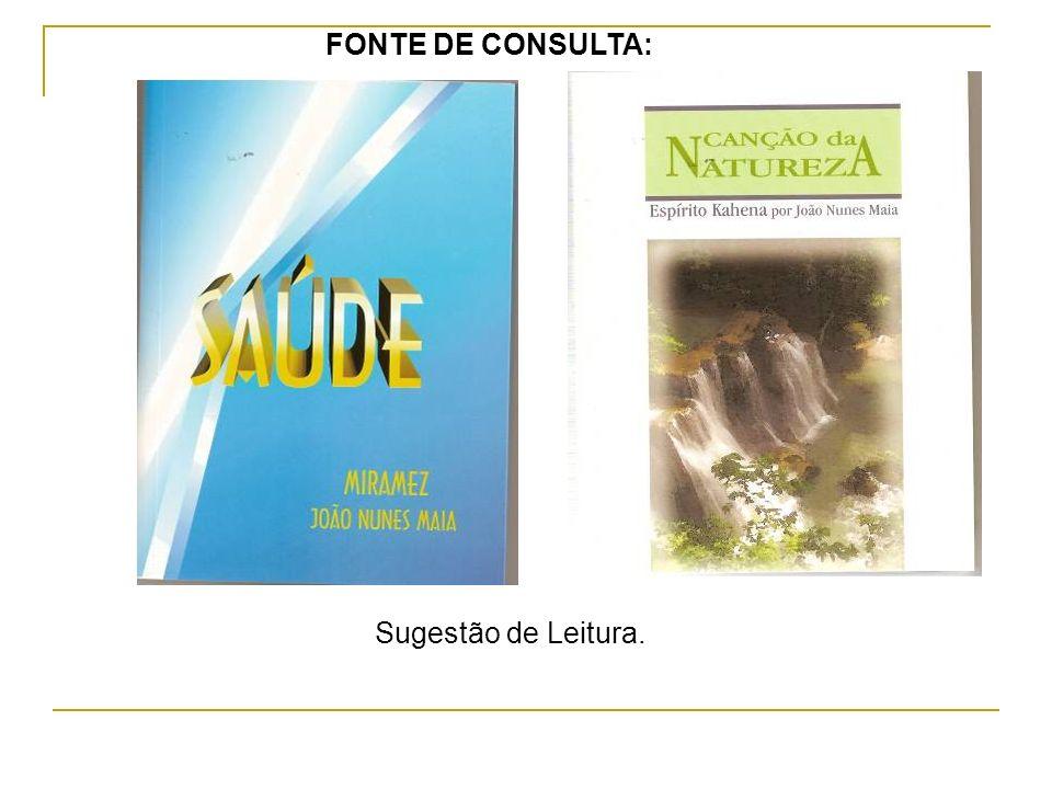 Sugestão de Leitura. FONTE DE CONSULTA: