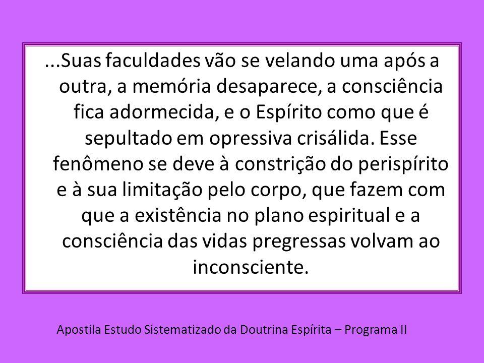 ....Esse mecanismo, que faz com que o homem possa esquecer suas experiências anteriores ao nascimento, é prova irrefutável da Sabedoria Divina.