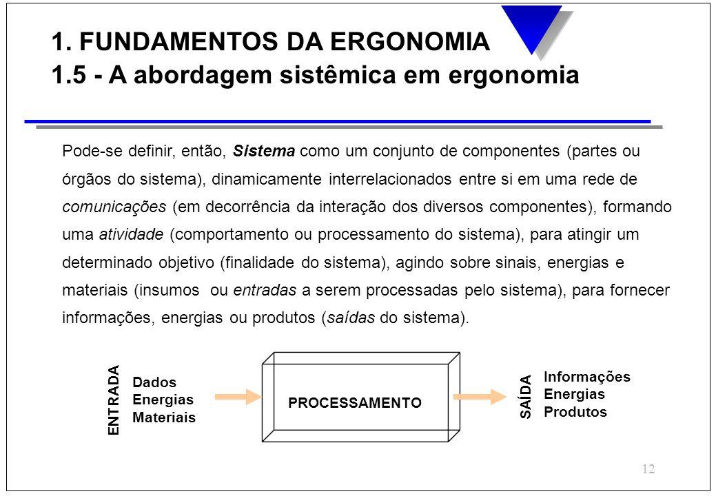 12 Pode-se definir, então, Sistema como um conjunto de componentes (partes ou órgãos do sistema), dinamicamente interrelacionados entre si em uma rede