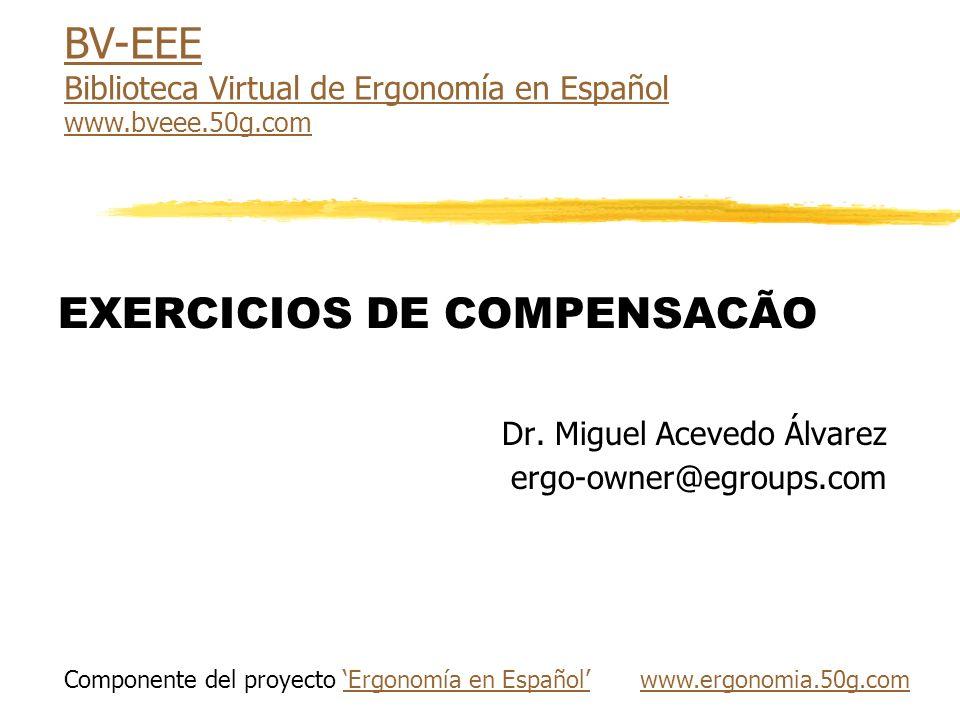 EXERCICIOS DE COMPENSACÃO Dr.