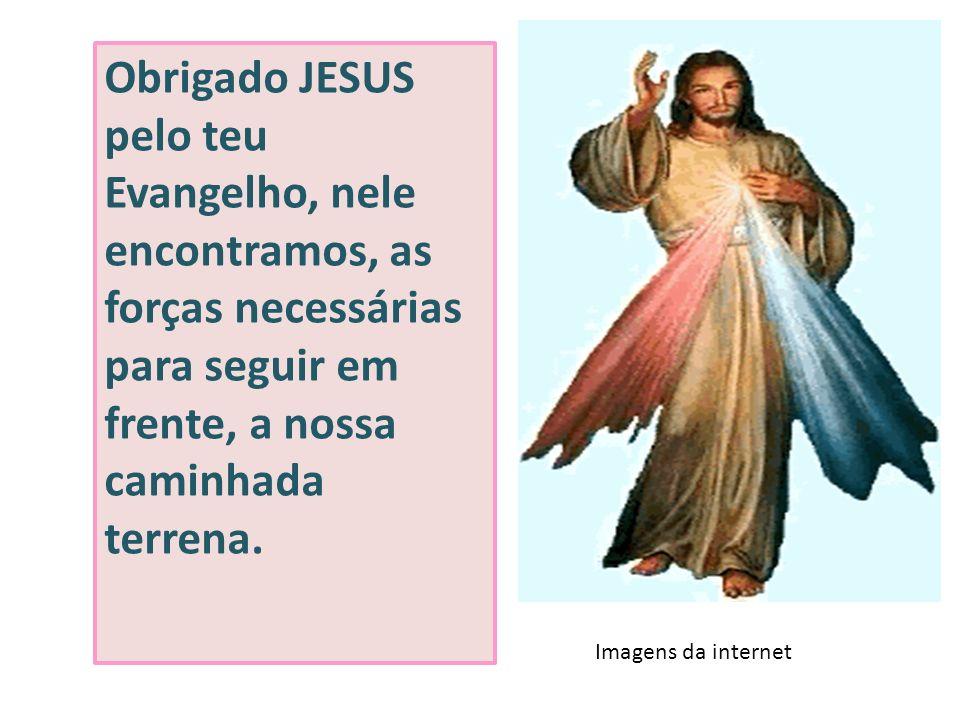 Obrigado JESUS pelo teu Evangelho, nele encontramos, as forças necessárias para seguir em frente, a nossa caminhada terrena. Imagens da internet