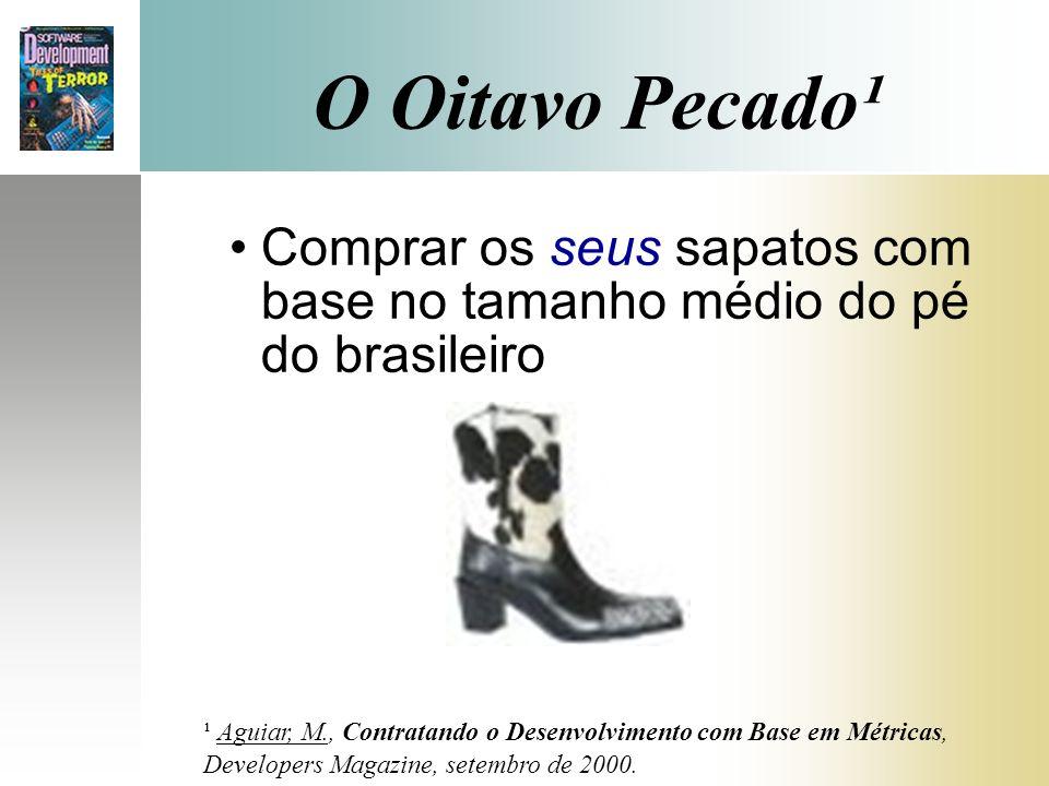 O Oitavo Pecado¹ Comprar os seus sapatos com base no tamanho médio do pé do brasileiro ¹ Aguiar, M., Contratando o Desenvolvimento com Base em Métrica