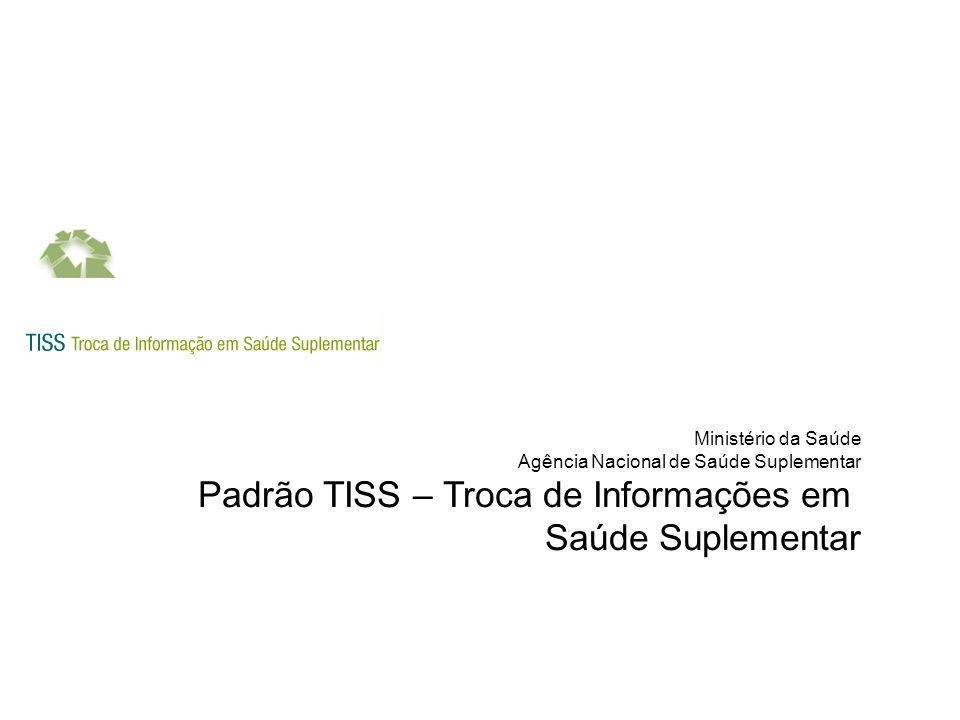Projeto TISS Sistema Público Prestadores de serviço SIB, SIP,RPS,DIOPS SIM, SINASC, SINAN, CIH Operadoras TISS - XML Padrão TISS Sistema suplementar - Operadoras