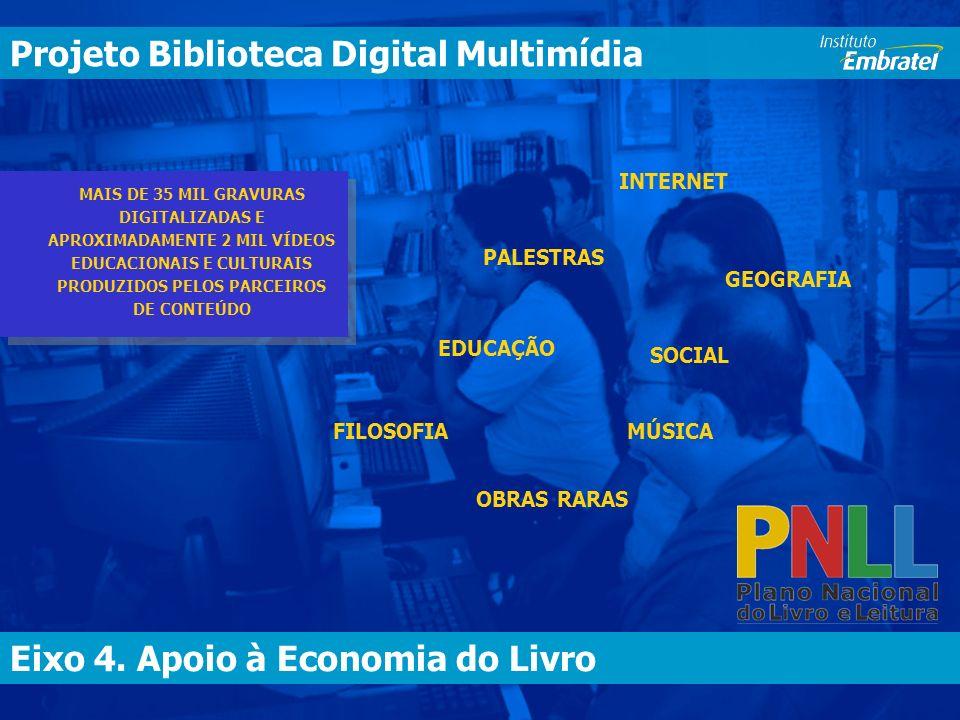 Eixo 4.Apoio à Economia do Livro Biblioteca Digital Multimídia Eixo 4.