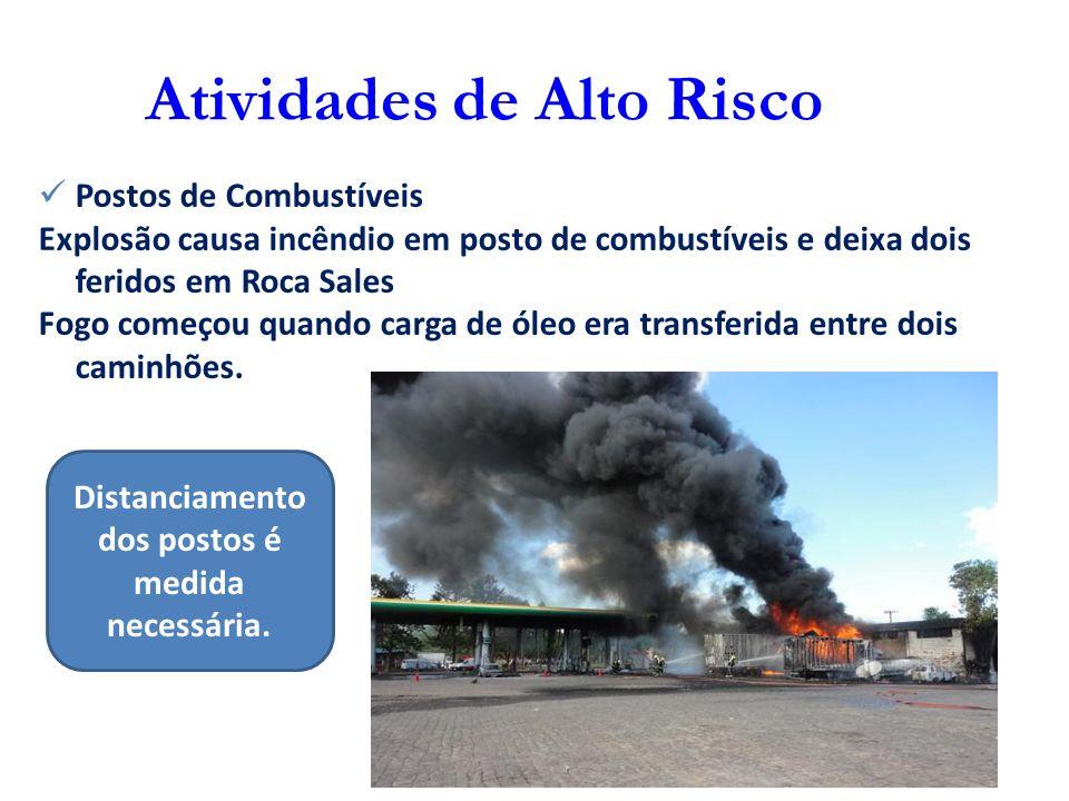 Atividades de Alto Risco Postos de Combustíveis Explosão causa incêndio em posto de combustíveis e deixa dois feridos em Roca Sales Fogo começou quand