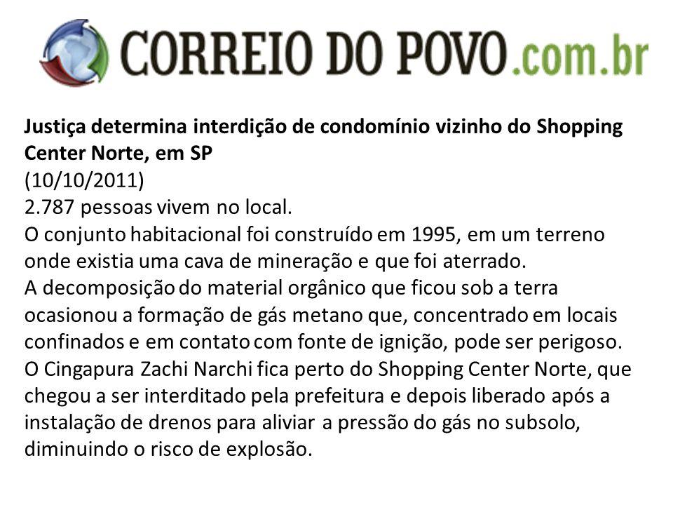 Justiça determina interdição de condomínio vizinho do Shopping Center Norte, em SP (10/10/2011) 2.787 pessoas vivem no local. O conjunto habitacional
