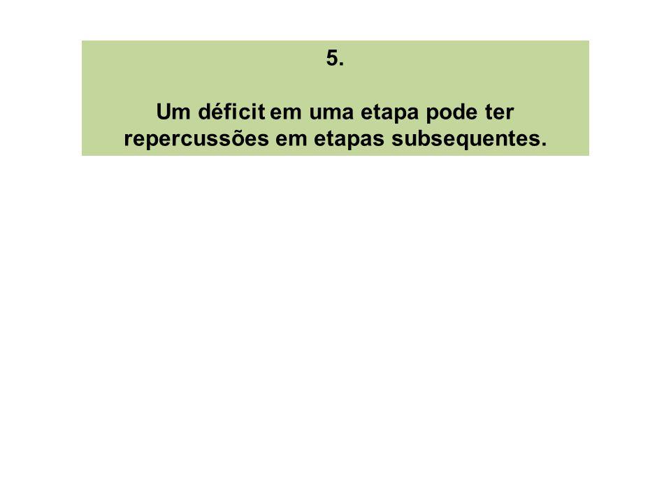 5. Um déficit em uma etapa pode ter repercussões em etapas subsequentes.