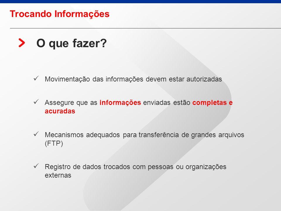 Uso inapropriado da Internet Uso dos serviços Internet para negócios particulares ou pessoais. Que vise o acesso não autorizado a quaisquer recursos d