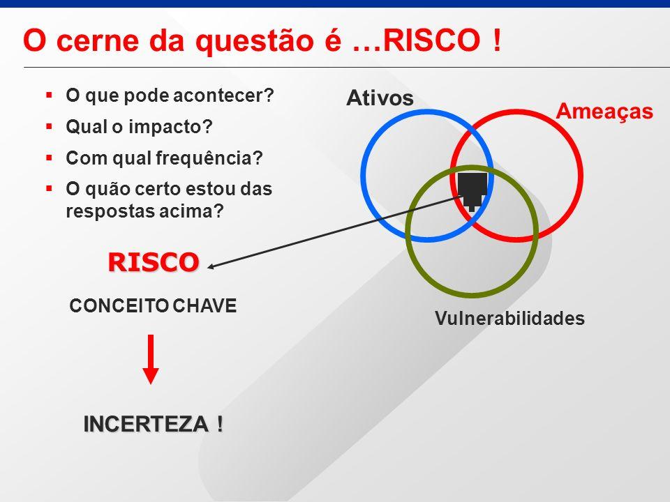 RISCO CONCEITO CHAVE INCERTEZA .O cerne da questão é …RISCO .