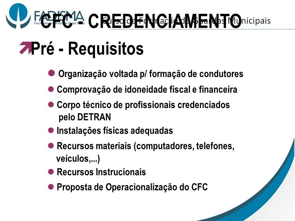 ATIVIDADES DO CFC 1ª CNH Renovação da CNH 2ª via da CNH Mudança/Adição de Categoria Cursos Especiais Reciclagem