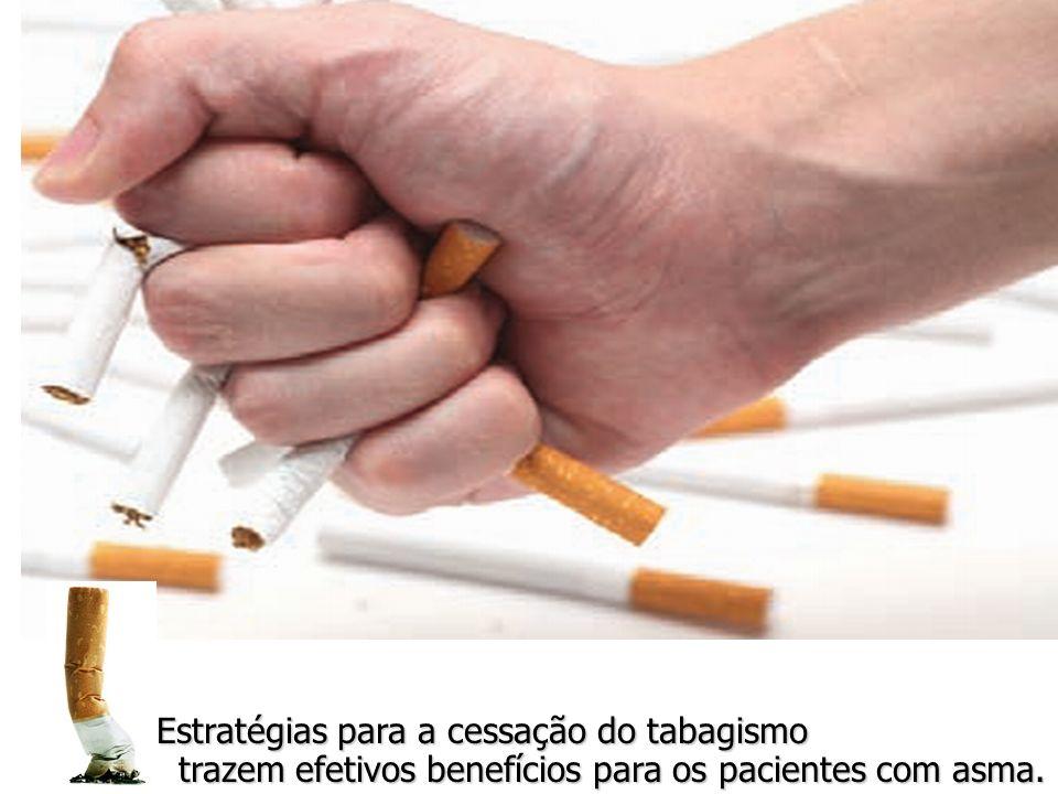 Estratégias para a cessação do tabagismo trazem efetivos benefícios para os pacientes com asma. trazem efetivos benefícios para os pacientes com asma.