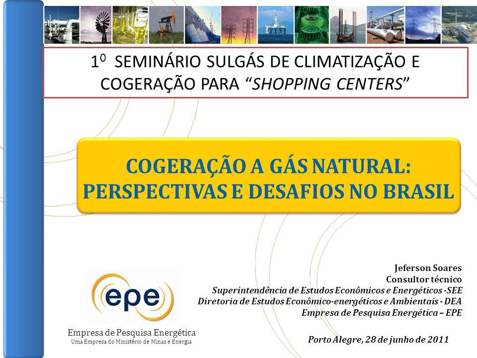 COGERAÇÃO A GÁS NATURAL: PERSPECTIVAS E DESAFIOS NO BRASIL SUMÁRIO IMPORTÂNCIA COGERAÇÃO NO MUNDO COGERAÇÃO NO BRASIL COGERAÇÃO A GÁS ASPECTOS REGULATÓRIOS PERSPECTIVAS DE MÉDIO PRAZO CONSIDERAÇÕES FINAIS