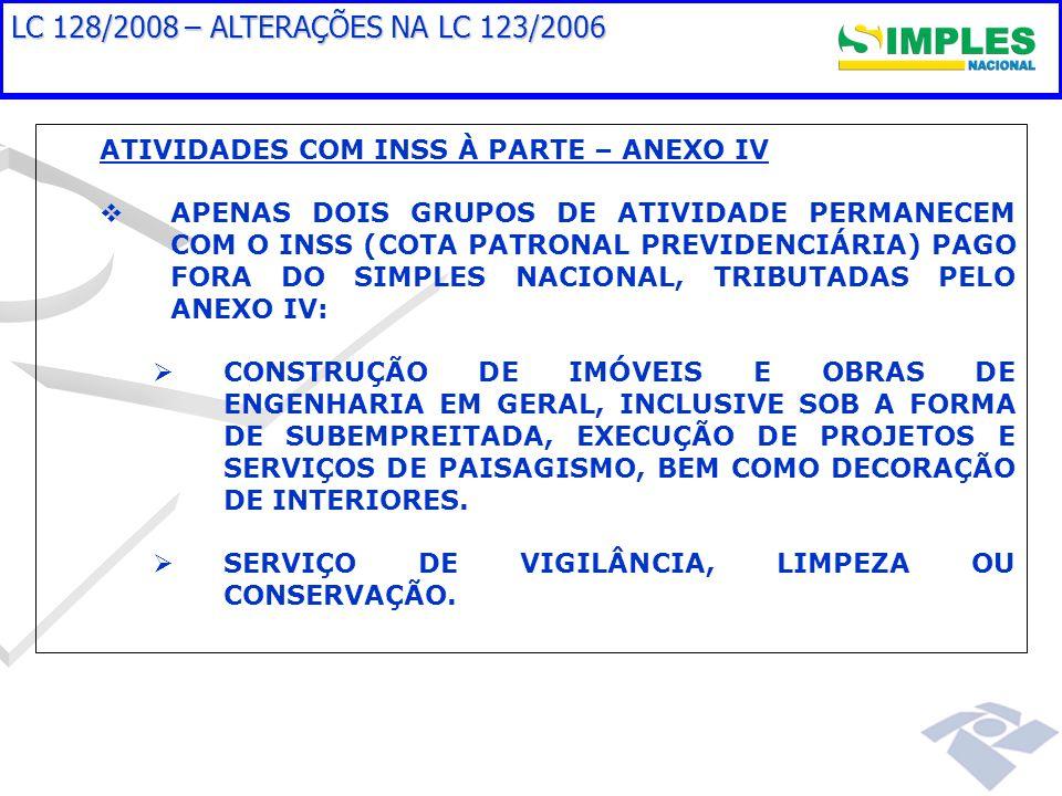 Prioridades em Soluções de Tecnologia SoluçãoSituaçãoPrevisão Disponibilização dos arquivos da DASN 2008HomologadoProdução – 20/03/2009 SemáforoHomologadoProdução – 25/03/2009 Disponibilização dos arquivos da DASN 2009Em desenvolvimentoProdução – Abril/2009 MEI (Opção e Recolhimento)Em especificaçãoProdução – 01/07/2009 Controle dos débitos (conta corrente e cobrança)Em especificaçãoProdução – Agosto/2009 Geração sob demanda de arquivos com DASEspecificadoInício desenvolvimento – abril/2009 Inscrição em Dívida AtivaEm especificaçãoEspecificação – dezembro/2009 Sistema Eletrônico Único de Fiscalização – AINFEm especificaçãoProdução – até final de 2009 Exclusão em Lote pelos Entes FederativosA especificarEspecificação – Julho/2009 Alteração PGDAS - premissa aprovada CGSN (não cobrar multa no caso de inclusão retroativa) EspecificadoA definir Aplicativo que permitirá ao contribuinte recolher no PGDAS sem multa e juros no caso de consulta desfavorável A especificarEspecificação – julho/2009 Aplicativo que disponibilizará os processos de consulta do SN a todos os Entes A especificarEspecificação – 2010 Controle de processos do SN (numeração única)A especificarEspecificação - 2010