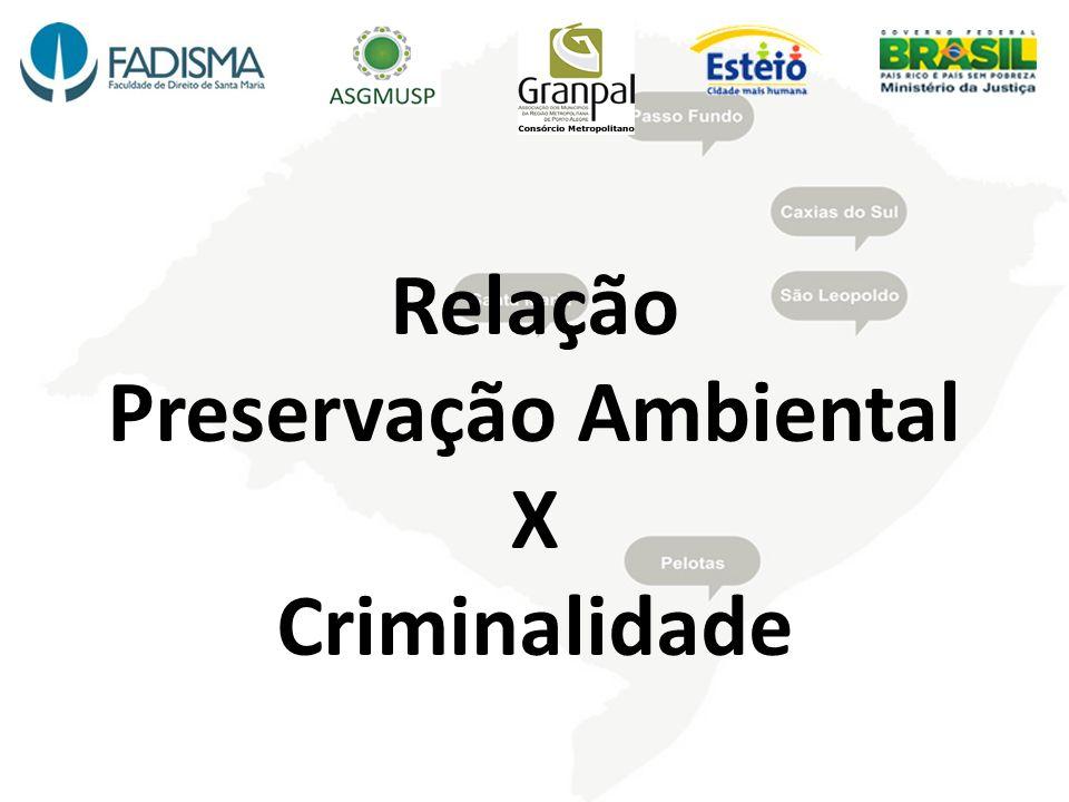 Relação Preservação Ambiental X Criminalidade