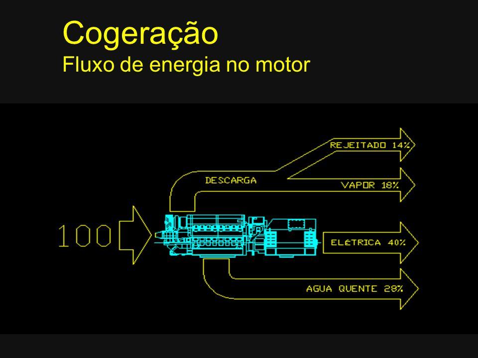 Cogeração Fluxo de energia no motor