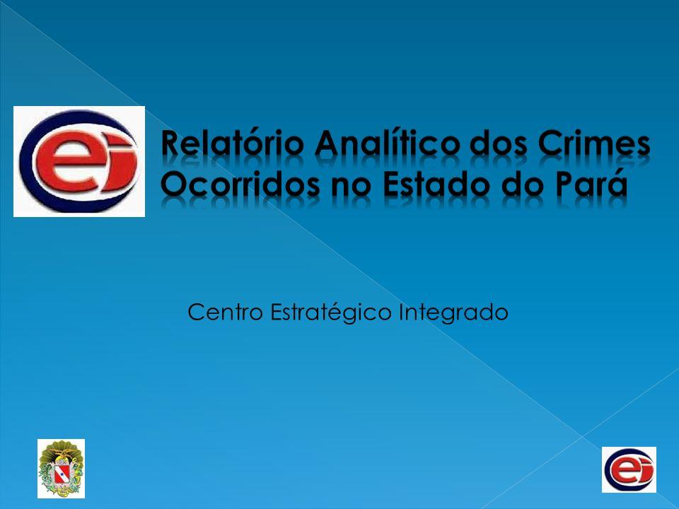 Principais Crimes Registrados no Mês de Março 2007 a 2011 - Estado do Pará Fonte: SISP/ Centro Estratégico Integrado, Mar/11.