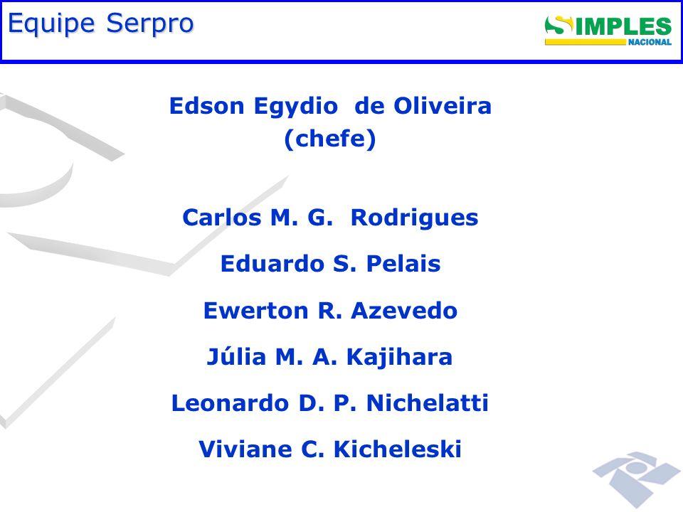 Fundamentação legal Equipe Serpro Edson Egydio de Oliveira (chefe) Carlos M. G. Rodrigues Eduardo S. Pelais Ewerton R. Azevedo Júlia M. A. Kajihara Le