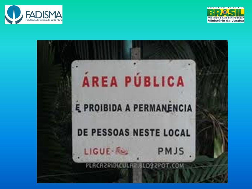 1.6 A utilização democrática do espaço público e as diversas manifestações de violação desse espaço (consideradas as peculiaridades de cada município)