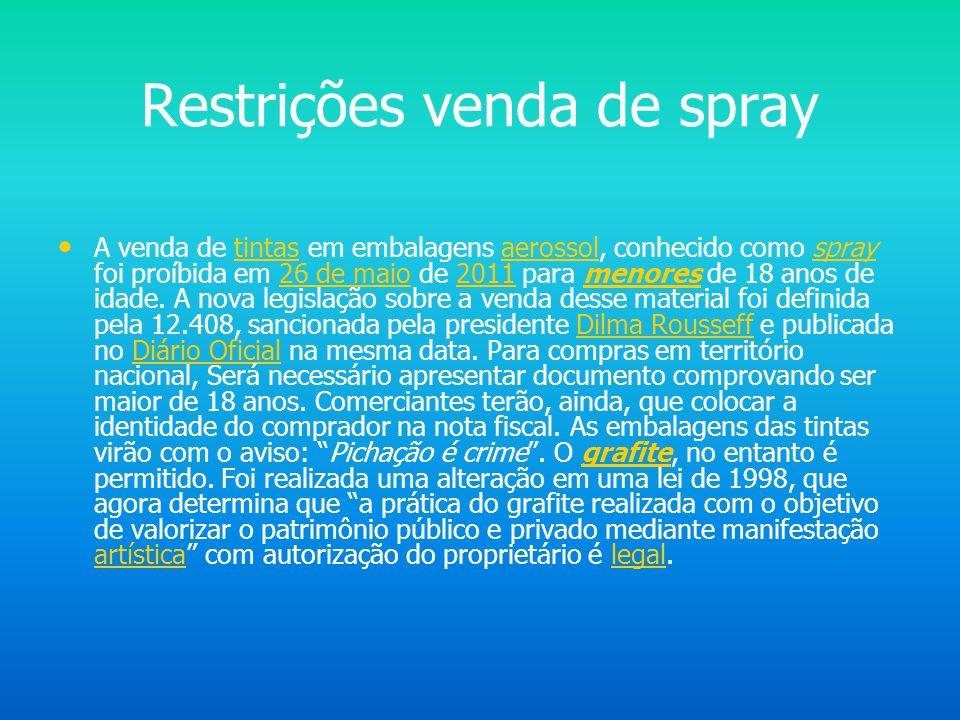 Pichação no Brasil No Brasil, existe uma diferença entre o grafite e a pichação. Ambas tendem a alimentar discussões acerca dos limites da arte, sobre