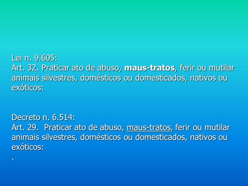 Decreto n. 6.514/08 – Decreto Federal que define as infrações administrativas ao meio ambiente.