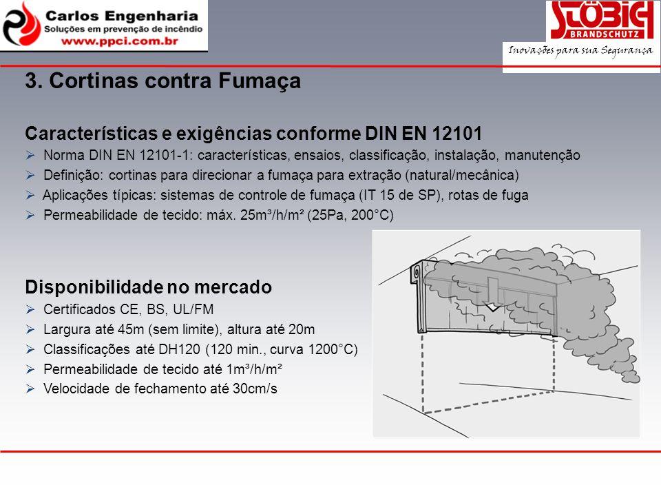 Características e exigências conforme DIN EN 12101 Norma DIN EN 12101-1: características, ensaios, classificação, instalação, manutenção Definição: co