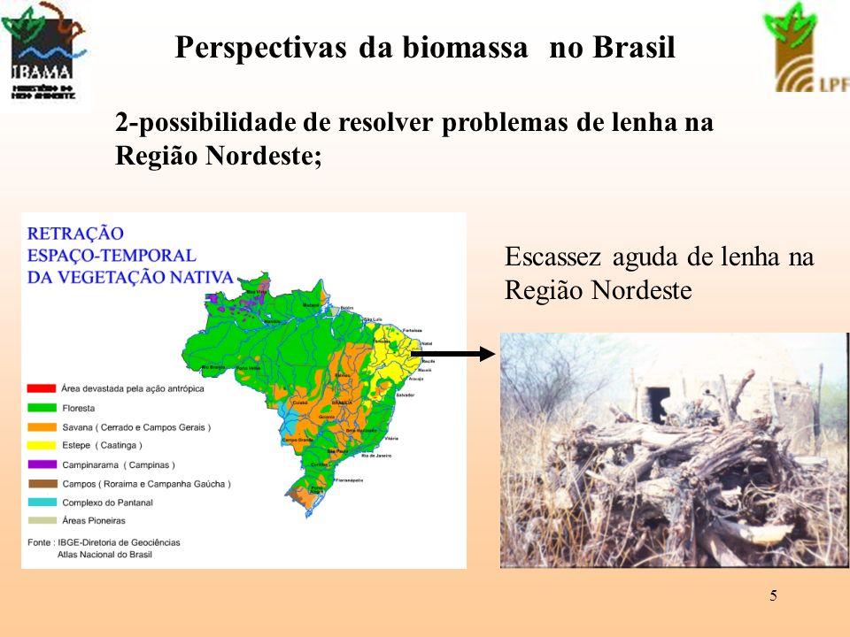 6 Perspectivas da biomassa no Brasil 3-Necessidade de valorizar os resíduos no Brasil Características dos resíduos: -heterogeneidade; -baixa densidade; -dispersão - distâncias Br Solução: aplicar tecnologia, investir, incentivos Usina termelétrica a residuos
