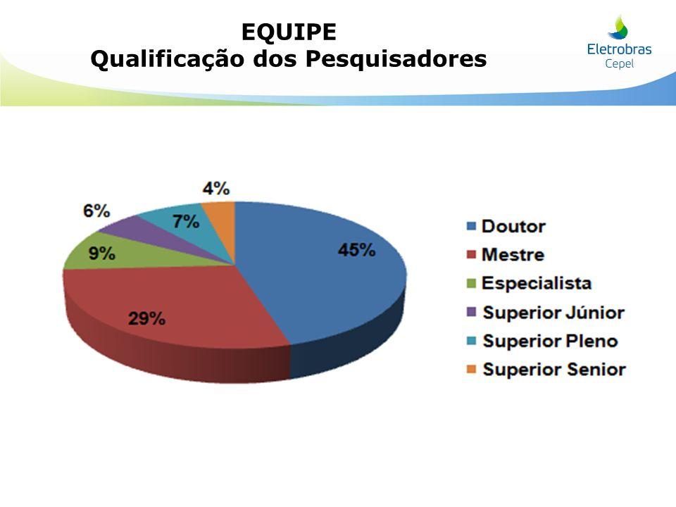 EQUIPE Qualificação dos Pesquisadores