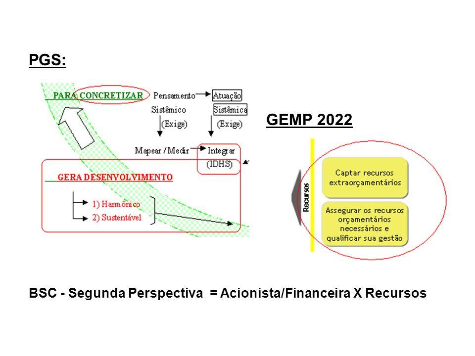 PGS: GEMP 2022 BSC - Segunda Perspectiva = Acionista/Financeira X Recursos