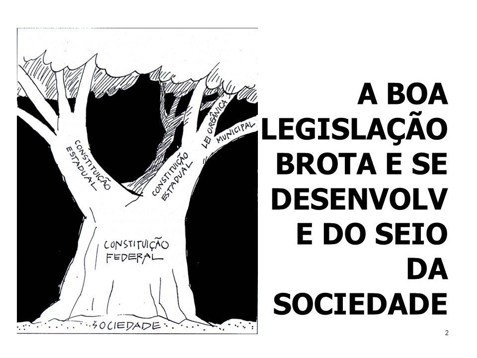 2 A BOA LEGISLAÇÃO BROTA E SE DESENVOLV E DO SEIO DA SOCIEDADE
