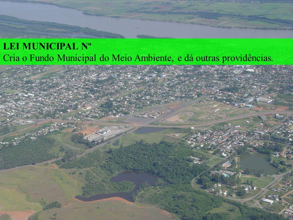 LEI MUNICIPAL Nº Cria o Fundo Municipal do Meio Ambiente, e dá outras providências.