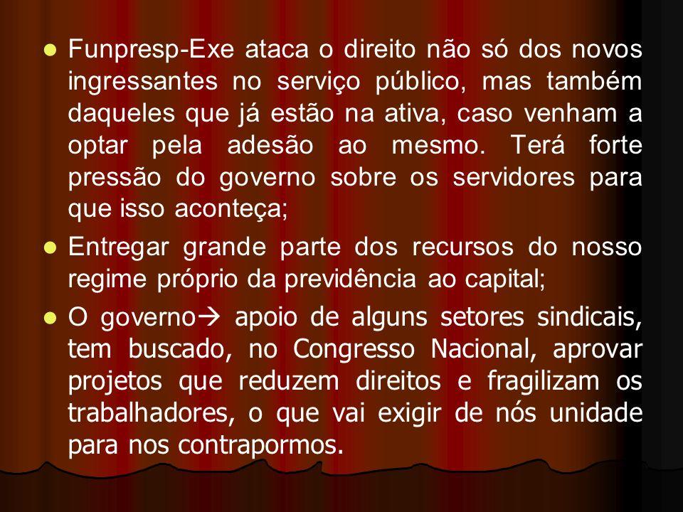 Funpresp-Exe ataca o direito não só dos novos ingressantes no serviço público, mas também daqueles que já estão na ativa, caso venham a optar pela ade