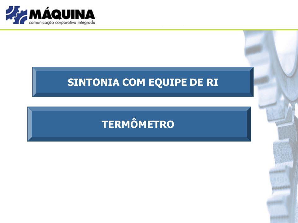 SINTONIA COM EQUIPE DE RI TERMÔMETRO