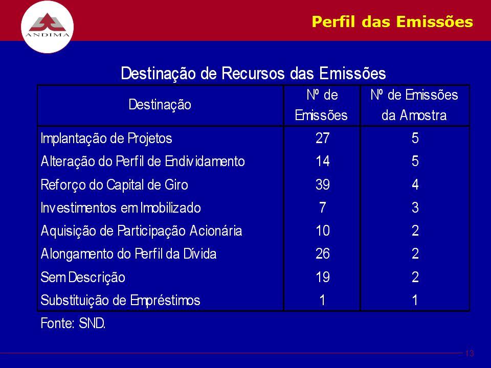 13 Perfil das Emissões