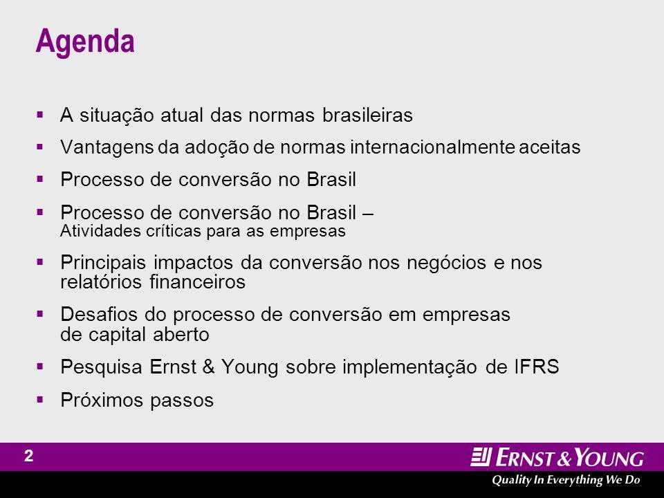 Assurance and Advisory Business Services International Financial Reporting Standards A situação atual das normas brasileiras