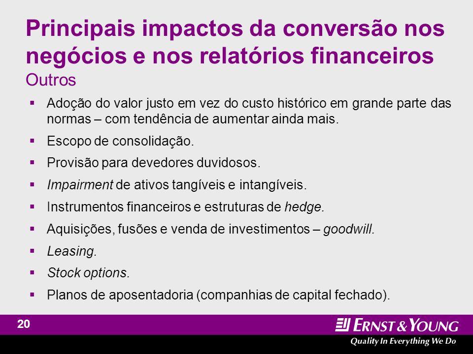 Assurance and Advisory Business Services International Financial Reporting Standards Desafios do processo de conversão em empresas de capital aberto