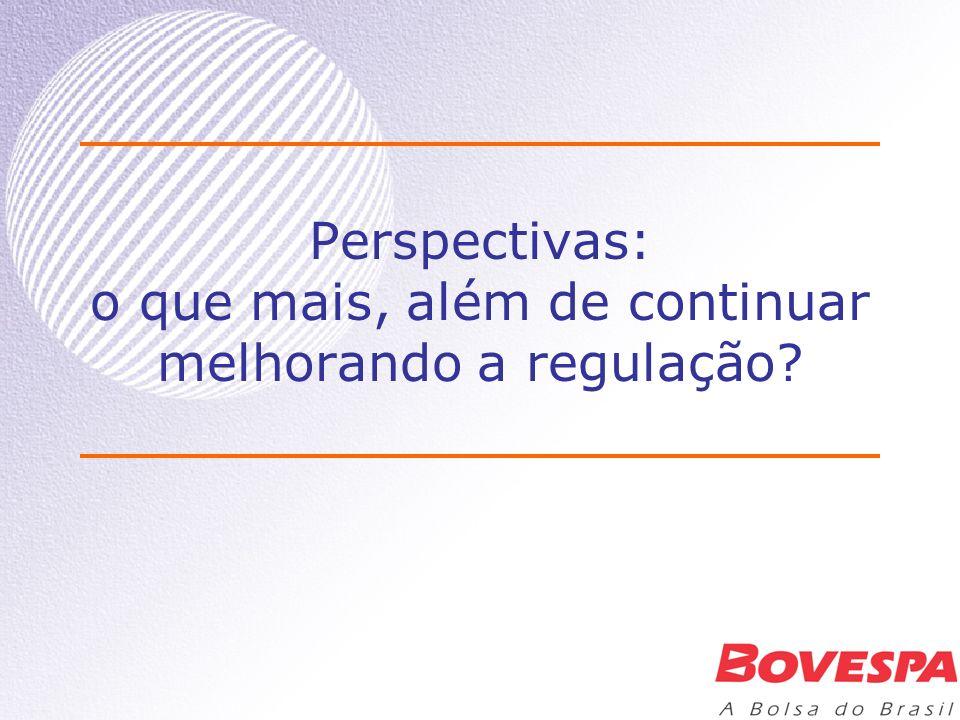 Perspectivas: o que mais, além de continuar melhorando a regulação?