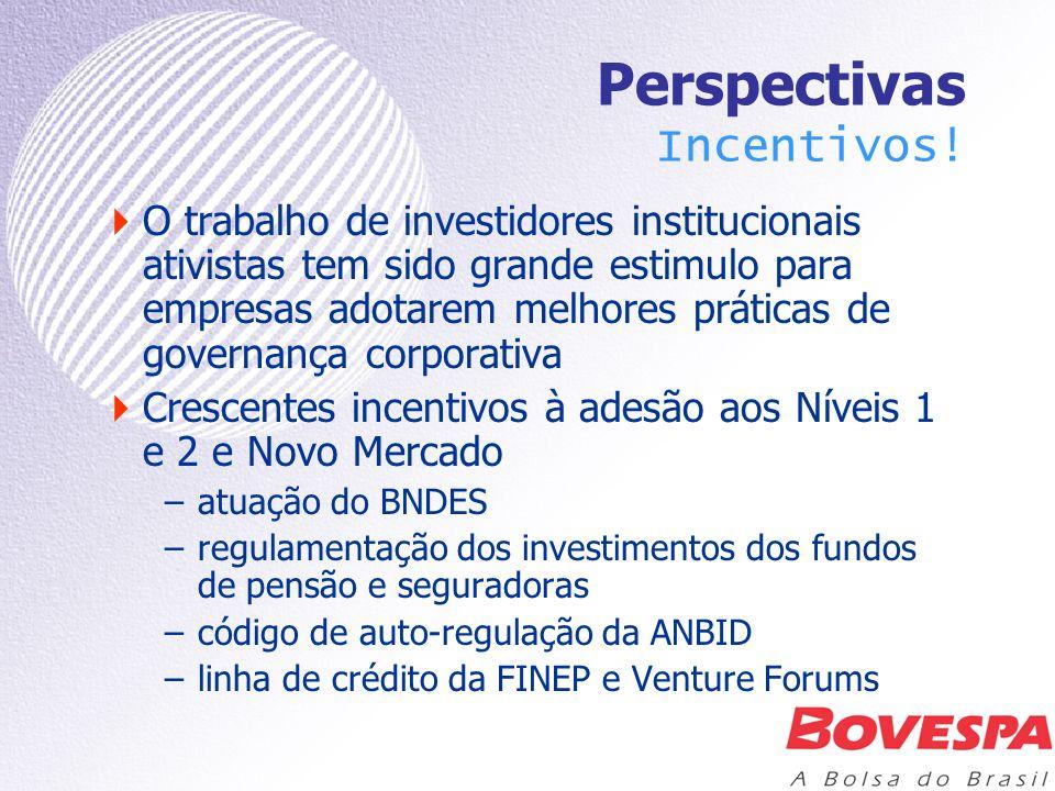 Perspectivas Incentivos! O trabalho de investidores institucionais ativistas tem sido grande estimulo para empresas adotarem melhores práticas de gove