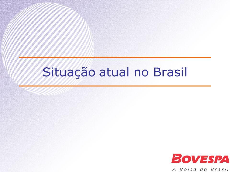 Situação atual Nível 1, Nível 2 e Novo Mercado –Nível 1: 22 empresas –Adesões em dez/02: Hering, Klabin –Novo Mercado: 2 empresas –Banco do Brasil (em andamento) –Nível 2: 3 empresas