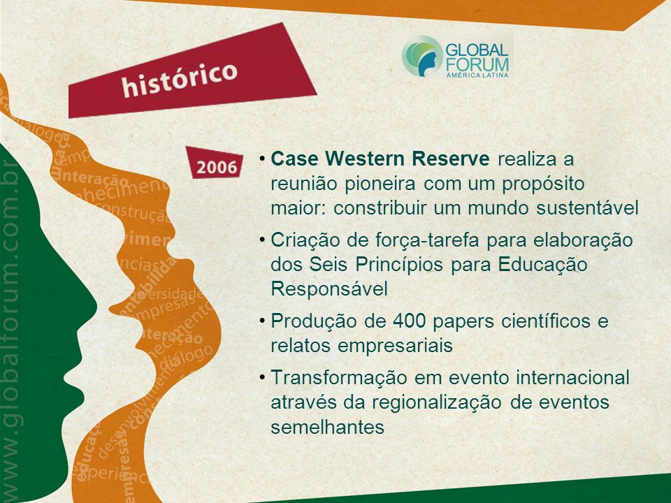 Case Western Reserve realiza a reunião pioneira com um propósito maior: constribuir um mundo sustentável Criação de força-tarefa para elaboração dos S
