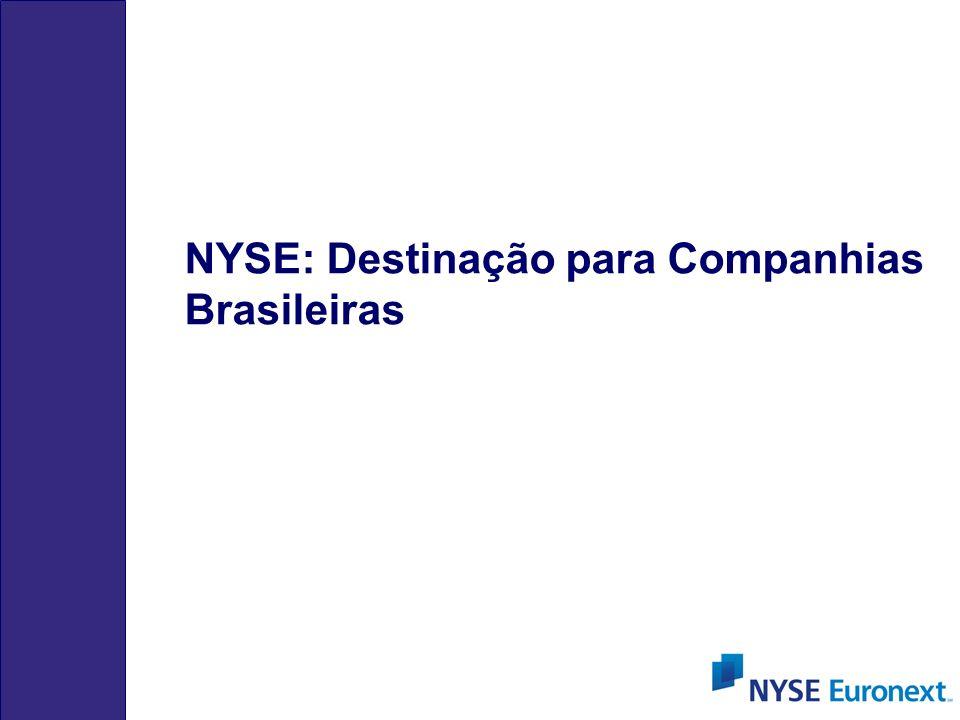 NYSE: Destinação para Companhias Brasileiras