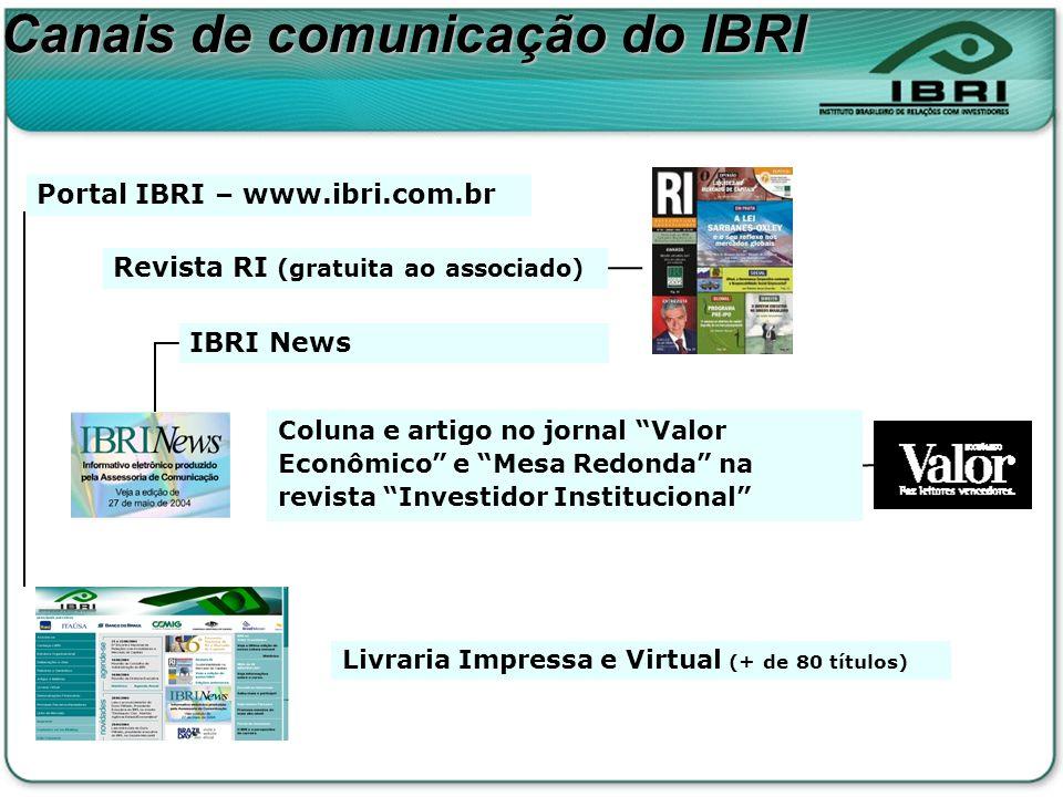 Coluna e artigo no jornal Valor Econômico e Mesa Redonda na revista Investidor Institucional Revista RI (gratuita ao associado) IBRI News Portal IBRI