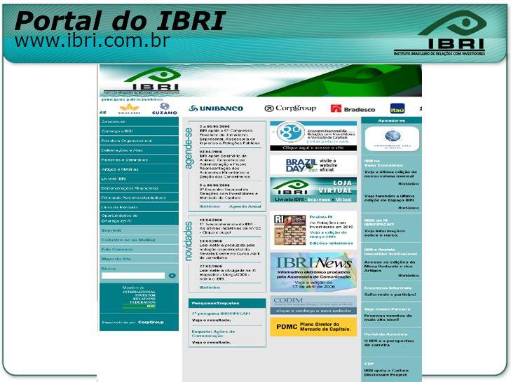 Portal do IBRI www.ibri.com.br