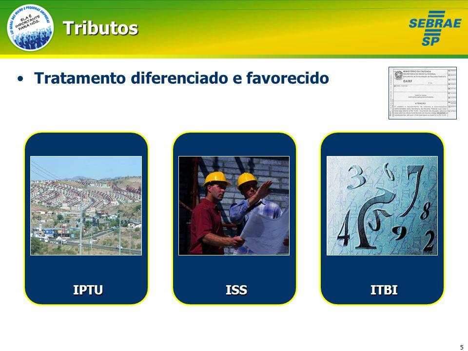5 ITBITributos Tratamento diferenciado e favorecido IPTU ISS