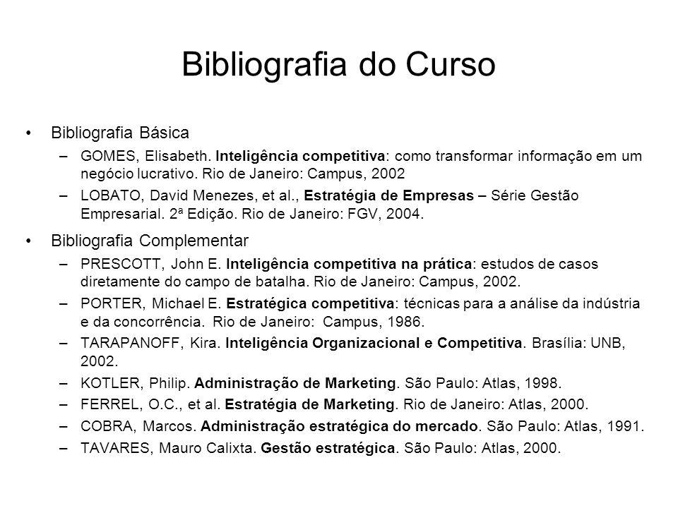 Bibliografia do Curso Bibliografia Básica –GOMES, Elisabeth.